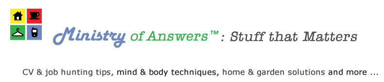Ministry of Answers; stuff that matters