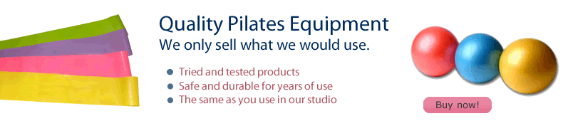 Buy Pilates balls and resistance bands