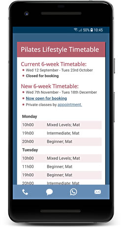 android timetable app