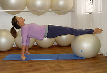 pilates swiss ball exercise