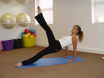Pilates matwork exercise